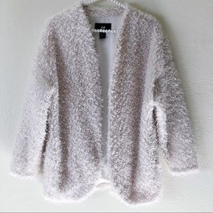 H&M Teddy Bear Fur Jacket in Cream | Sz 6